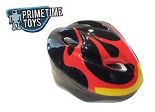 Black with Flames Child Toddler Kids Bicycle / Scooter All Purpose Helmet