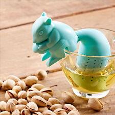 Infuseur Infusion Thé Herbe Filtre Boule Ecureuil Bleu Silicone Cadeau Neuf