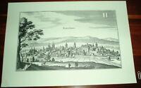 Kaiserslautern alte Ansicht Merian Druck Stich 1650