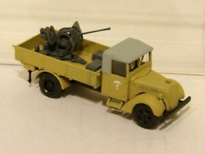 Afrika Korps Ford 3000T  w/20mm AA Gun AMA 184 New 1/87 Finished Kit