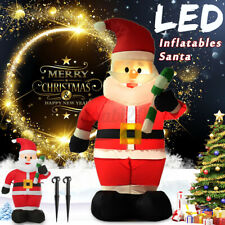 More details for 1.2m led inflatable crutches santa claus w/blower garden layout christmas