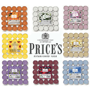 Prices Scented Tealights Candles - Pack of 25 - 8 Scents to Choose From!