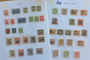 Niue Stamps Older Collection On Two Pages Mounted Mint Catalogue £300+(Lot 261)