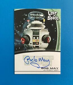 RARE Fantasy Worlds of Irwin Allen Lost in Space BOB MAY A5 autograph card