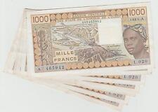 BANQUE CENTRALE DES ETATS DE L'AFRIQUE DE L'OUEST 1000 F 1989 LETTRE A TTB++