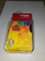 TDK Premium Quality T-120 6 Hours Blank VHS 3 Pack Tapes