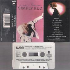 SIMPLY RED  A new flame   DIFFICULT    SPANISH  CASSETTE  Spain 1989