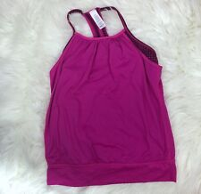 Ivivva Lululemon Girls Size 10 Double Dutch Layered Athletic Tank Top Pink