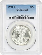 1942-S 50c PCGS MS66 - Walking Liberty Half Dollar