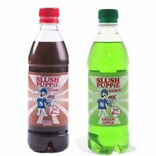 Official Slush Puppie 2 Pack Frozen Cola and Apple Slushie Drink Syrup