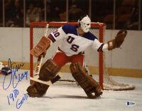 JIM CRAIG SIGNED 11x14 PHOTO + 1980 GOLD USA OLYMPIC HOCKEY LEGEND BECKETT BAS