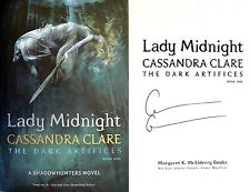 Cassandra Clare~SIGNED~Lady Midnight: The Dark Artifices Bk 1~1st/1st + PHOTOS!