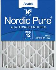 Nordic Pure 20x25x4 AC Furnace Air Filters MERV 12, Box of 2 AS IS. See Pics.