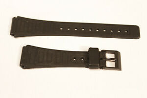 Uhrenarmband Kunststoff schwarz Anstoßbreite 18 mm Kunststoffschließe 920-B-1944
