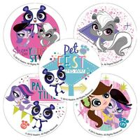 Littlest Pet Shop Stickers x 5 - Birthday Party Supplies - LPS Party - Pet Party