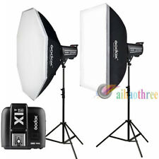 2Pcs Godox QT400II 400W 2.4G HSS 1/8000s Studio Strobe Flash Light Kit For Sony