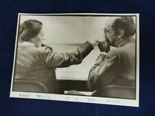 Glossy Press Photo 1982 Town House bride and groom kiss Concord Massachusetts