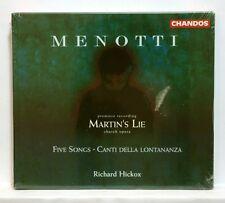 RICHARD HICKOX - MENOTTI martin's lie CHANDOS CD STILL SEALED