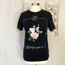 The Chainsmoker Framed Roses T Shirt Unisex Size Small Black Slim Fit Band Tee