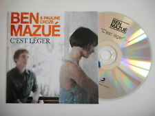 BEN MAZUE & PAULINE CROZE : C'EST LEGER [ CD PROMO ] ~ PORT GRATUIT !