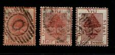 South Africa Orange Free State 1883 1884 ½d, 2d SG48-50 Used