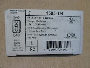 Legrand / Pass & Seymour 1595-TR GFCI Duplex Receptacle - Brown - New in Box