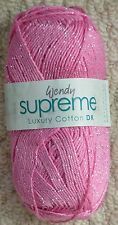 Wendy Supreme Luxury Cotton DK Shade 1918 Orchid Shine 100g Ball