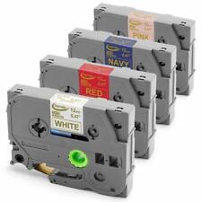 4PK TZe RE34 RN34 RW34 R234 Compatible PTouch Label Maker Satin Ribbon Tape 12mm