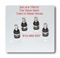 "4 KITS TR416 TIRE VALVE STEMS FITS: .453"" & .625"" RIM VALVE HOLES LONG 1 1/2"""