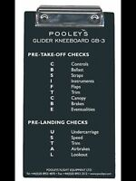 Pooleys GB-3 Glider Pilots Kneeboard *Best Value*
