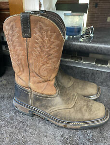 Boots Rocky Men's RKW0257Y US 6.5 Square Toe Leather Western Cowboy Saddle Drk