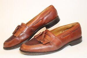Allen Edmonds USA Made Mens 12 D Cody Brown Leather Keltie Tassel Loafers Shoes