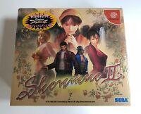 SHENMUE 2: LIMITED EDITION JPN, JAPAN SEGA DREAMCAST GAME, RARE, NEW - SEALED