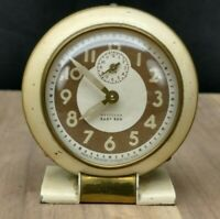 Westclox Baby Ben Beige Wind-Up Working Alarm Clock Patent 1930's Vintage
