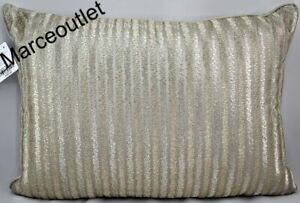 """Hotel Collection Terra Embroidered 14"""" X 20"""" Decorative Pillow Taupe / Gold"""