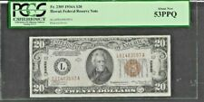 1934A $20 S/C HAWAII FEDERAL RESERVE NOTE  FR#2305  PCGS 53 ABOUT NEW