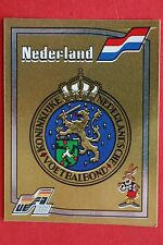 Panini EURO 88 N. 212 NEDERLAND BADGE WITH BACK VERY GOOD / MINT CONDITION!!!