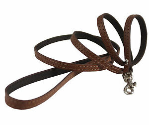 """Genuine Leather Dog & Cat Leash 45"""" long 3/8"""" wide for Small Breeds"""