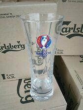 6 verres biere Carlsberg relief 30cl Euro 2016 France série limitée neufs