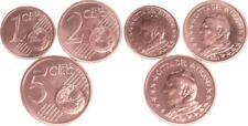 Vaticano 1,2, 5 Céntimos 2003 Monedas de Curso Con Papstmotiv Recién Acuñado
