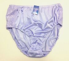 Vintage Pin Up Sheer Nylon Soft Lace Briefs Panties Sexy Purple Big size 4Xl