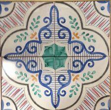 Ceramica Vietri Piastrelle 20x20 Decorate a Mano in Cotto Artigianale sp. 14 mm