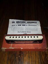 Vintage Unitone Chromatic Harmonica with box/pamphlet
