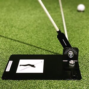 New Swing Plate Golf Training Practice Aid Alignment Stick Holder (Base only)