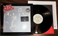Vintage NW rock lp METAL CHURCH Blessing in Disguise 1989 Elektra 60817 promo V+