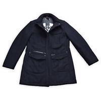 J.C. Rags Herren Mantel M 50 Wolle Business Jacke blau Gefüttert Jacket TOP
