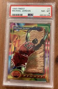 1993-94 Topps Finest Michael Jordan #1 PSA 8 🔥First Year Finest