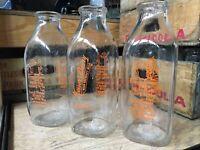 Vintage Quart Milk Bottle Messer's Dairy New London New Hampshire Nursery Rhyme