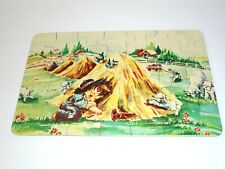 Vintage 1950s LITTLE BOY BLUE Nursery Rhyme Jigsaw Puzzle Toy COMPLETE