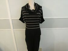 NWT The Limited striped short sleeve turtleneck sweater dress, size M
